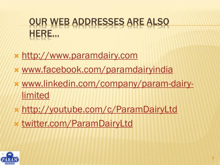 http://www.paramdairy.com