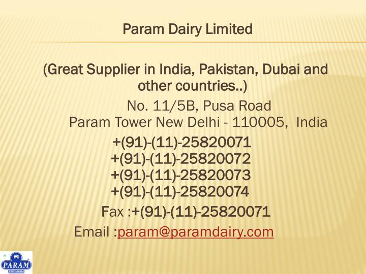 Param Dairy Limited