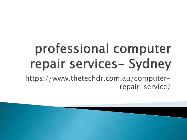 Professional computer repair services sydney