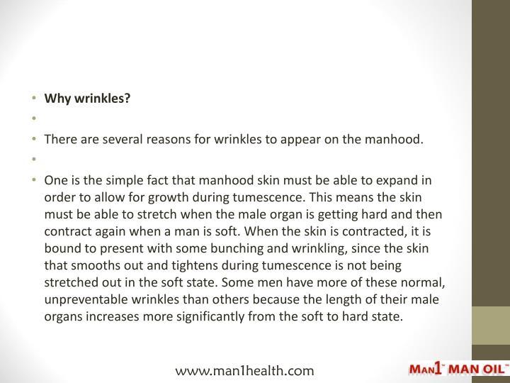 Why wrinkles?
