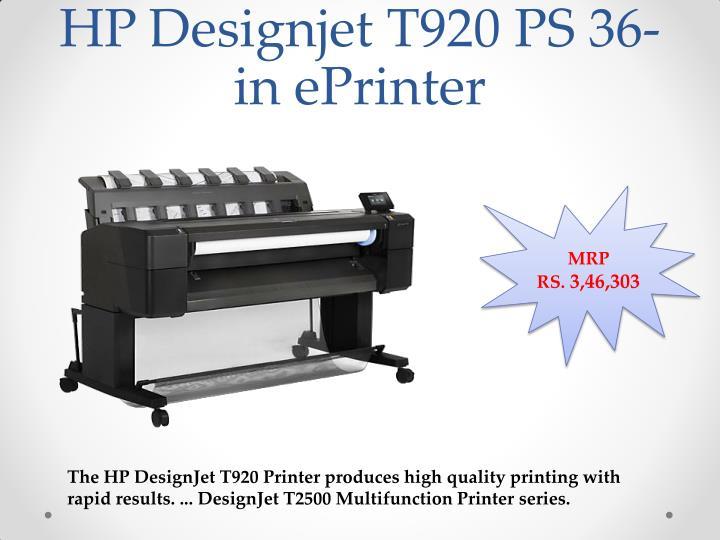 HP Designjet T920 PS 36-