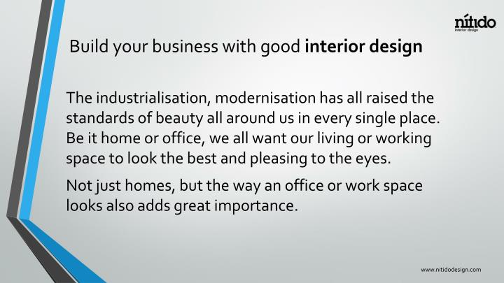 Build your business with good interior design