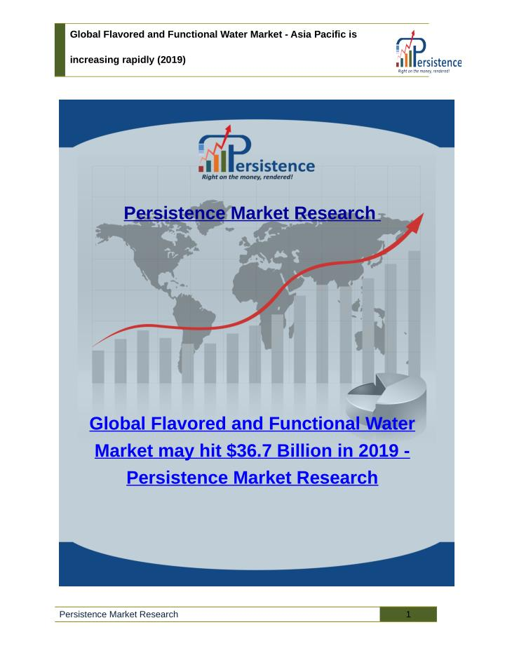 Global Flavored and Functional Water Market - Asia Pacific is