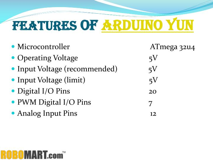 Features of arduino yun