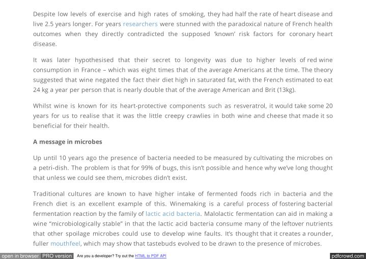 Despite low levels of exercise and high rates of smoking, they had half the rate of heart disease an...