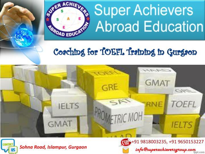 Coaching for TOEFL Training in Gurgaon