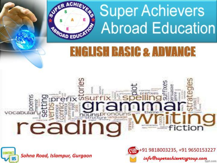 ENGLISH BASIC & ADVANCE