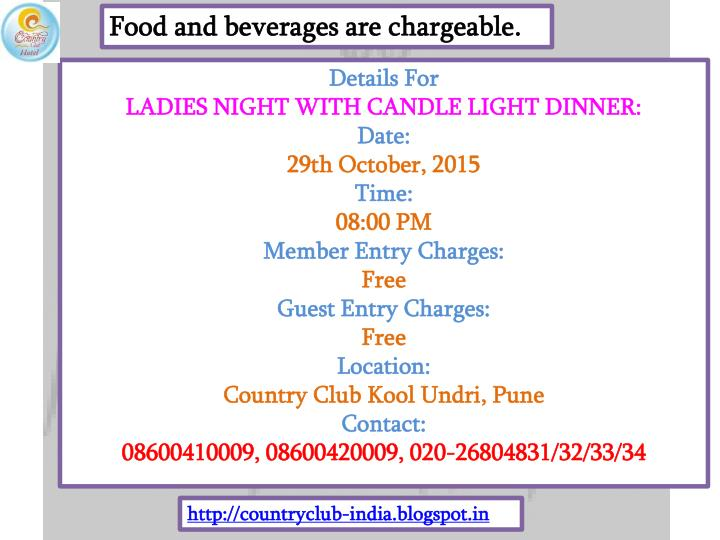 Food and beverages are chargeable.