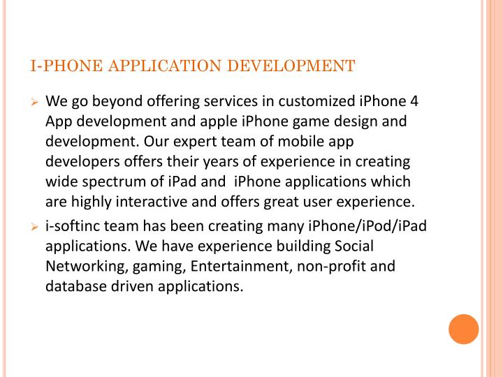 I phone application development1