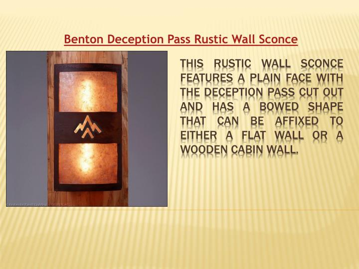 Benton Deception Pass Rustic Wall Sconce