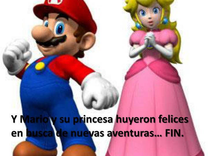 Y Mario y su princesa huyeron felices en busca de