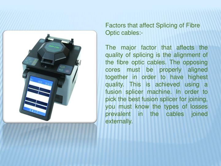 Factors that affect Splicing of