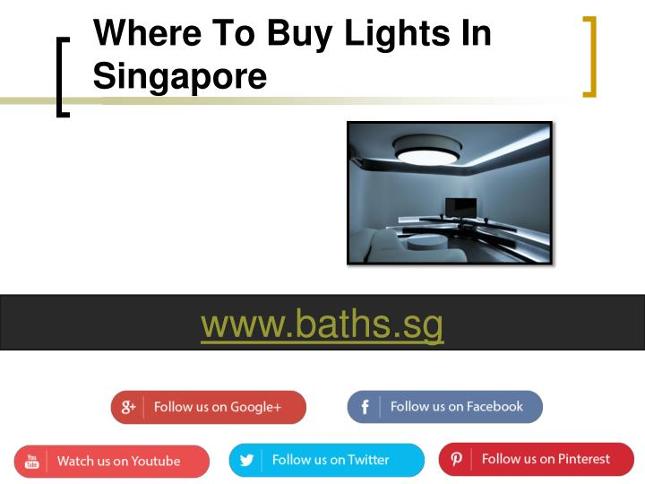 Where To Buy Lights In Singapore