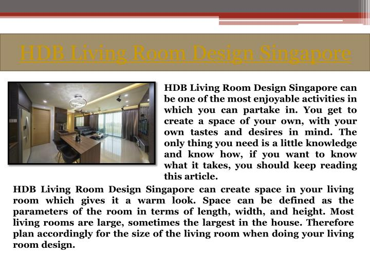 Hdb living room design singapore