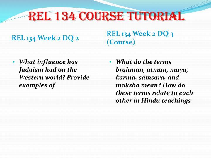 REL 134 Course Tutorial