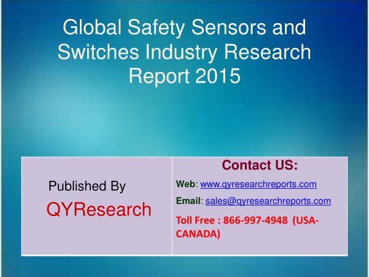 Global Safety Sensors and