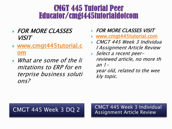 CMGT 445 Tutorial Peer Educator/cmgt445tutorialdotcom