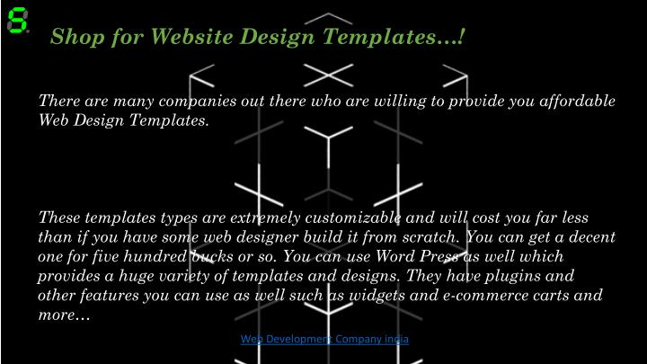 Shop for Website Design Templates…!