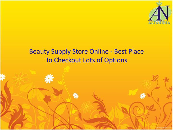 Beauty supply store online best place to checkout lots of options
