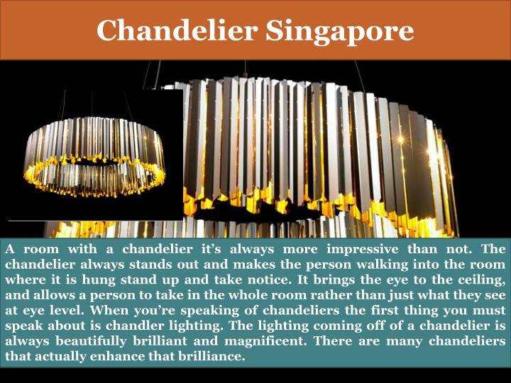 Chandelier singapore