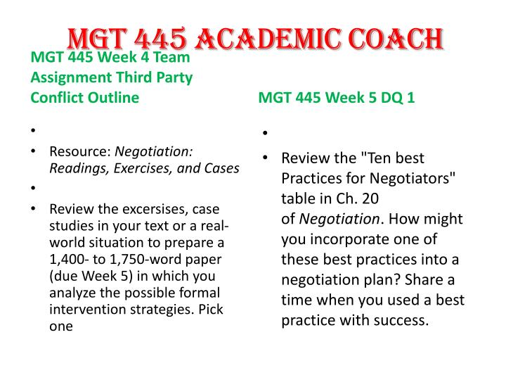 article analysis mgt 445 Article analysis organizational negotiations mgt 445 (2 pages | 461 words) article analysis global negotiations can be difficult because many factors involved, such as the cross-cultural boundaries, and external influences, or interests over the negotiations.