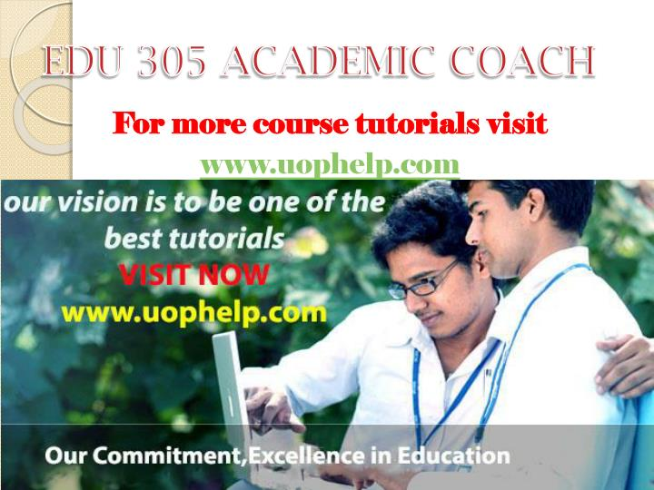edu 305 entire course Fin 305 - fundamentals of finance fall view available sections this course is designed to provide the please see.
