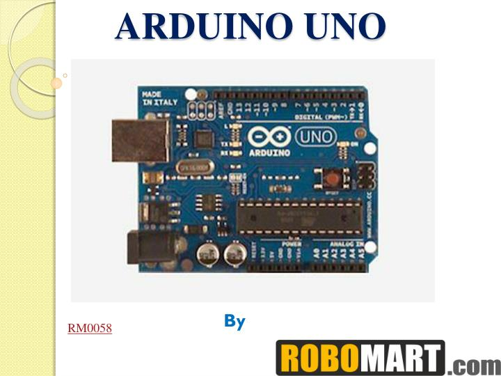 Ppt arduino uno india price by robomart powerpoint