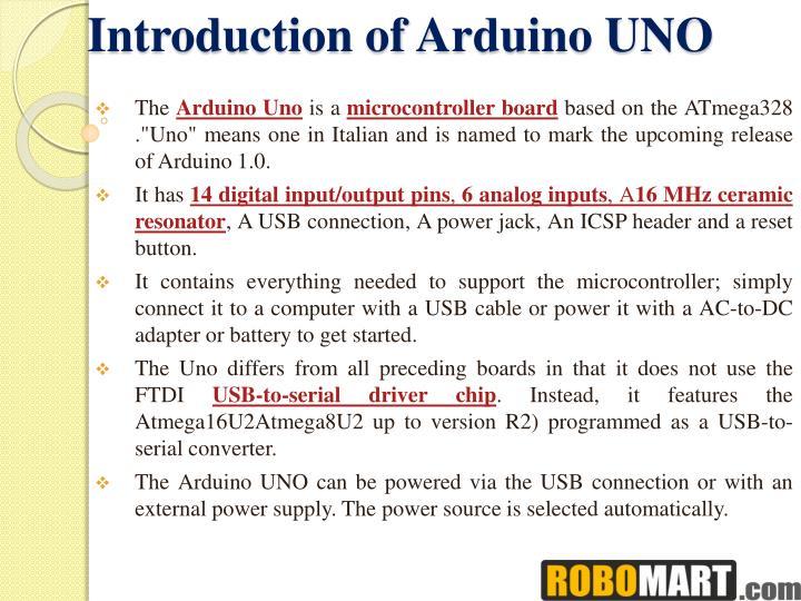 introduction to arduino uno pdf