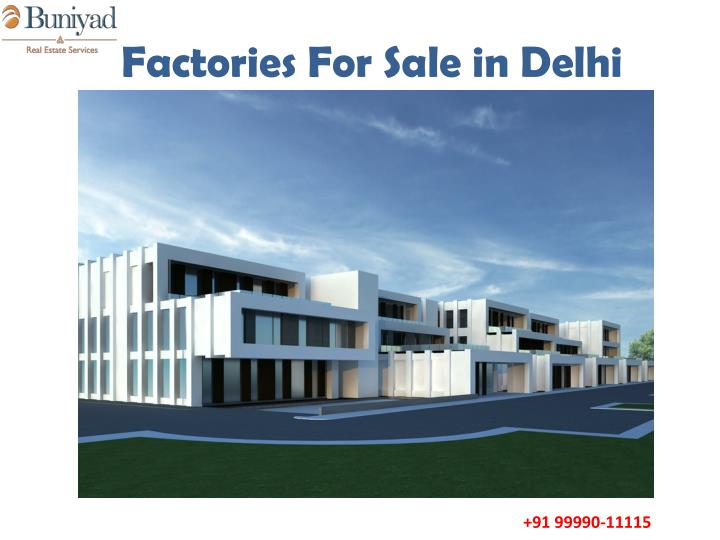 Factories for sale in delhi