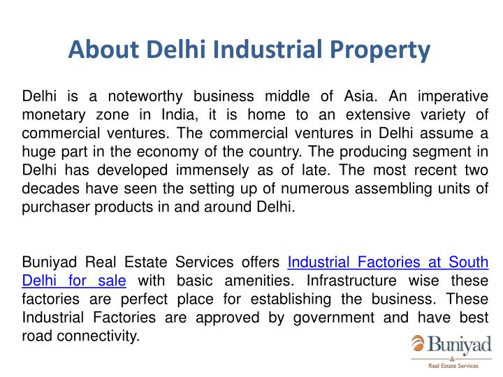 About Delhi Industrial Property