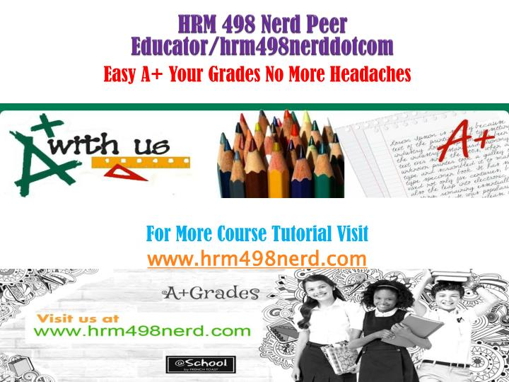 HRM 498 Nerd Peer Educator/hrm498nerddotcom