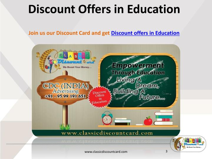 Discount Offers in Education
