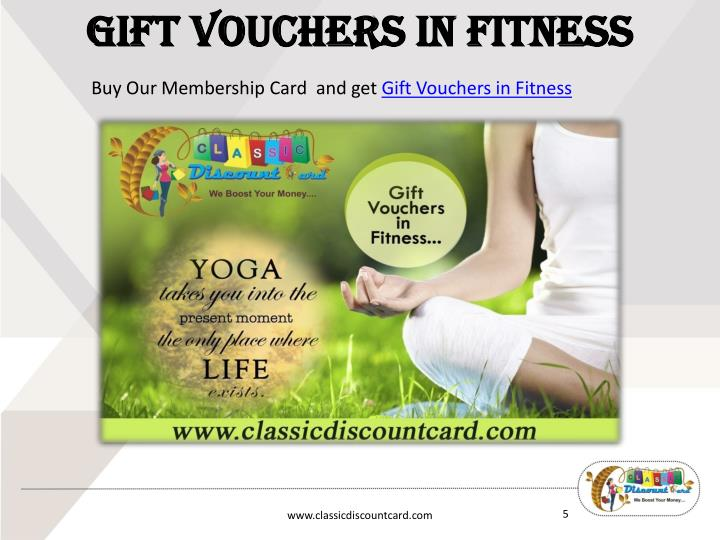 Gift Vouchers in Fitness