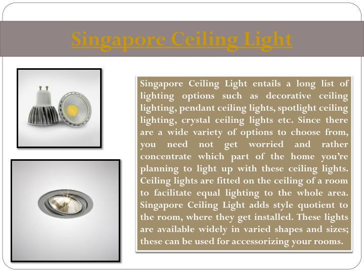 Singapore Ceiling Light