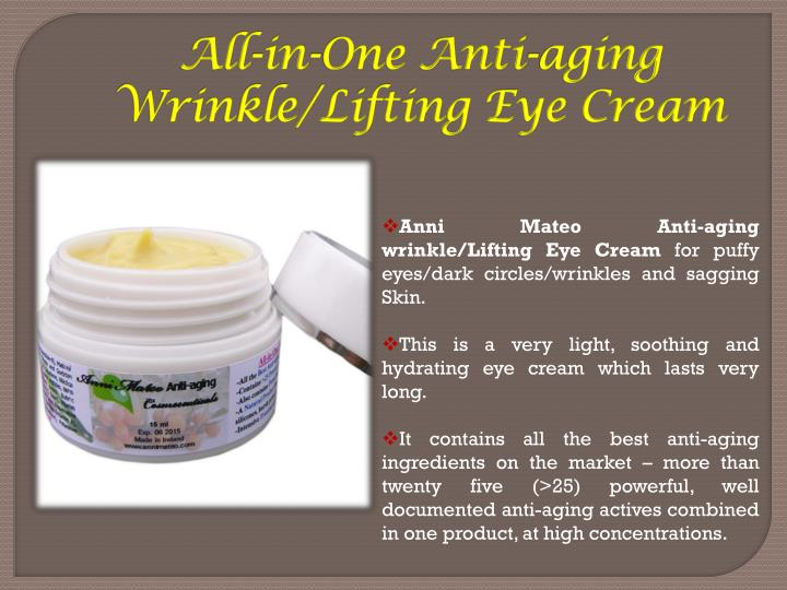 All-in-One Anti-aging Wrinkle/Lifting Eye Cream