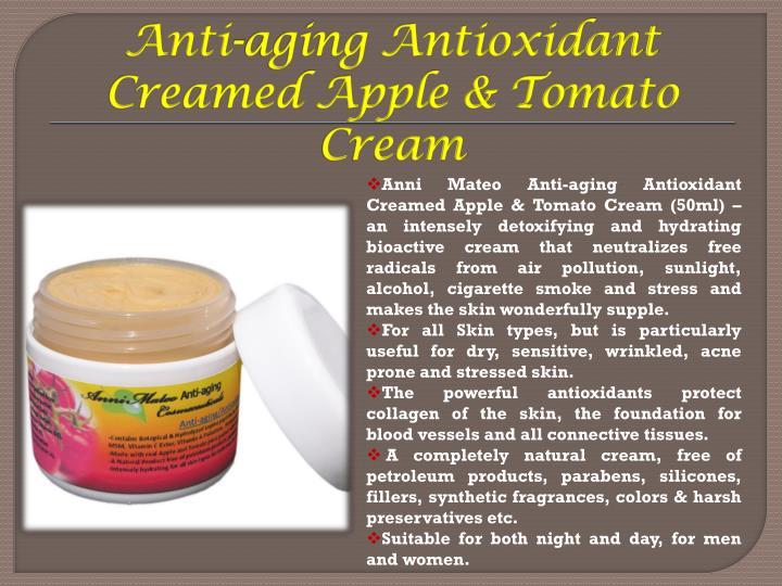 Anti-aging Antioxidant Creamed Apple & Tomato Cream