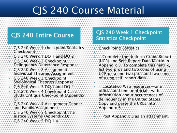 CJS 240 Entire Course