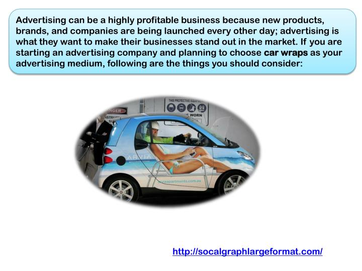 Advertising can be a highly profitable business because new products, brands, and companies are bein...