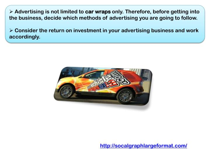 Advertising is not limited to