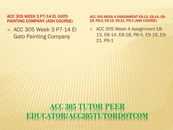 ACC 305 Week 3 P7-14 El