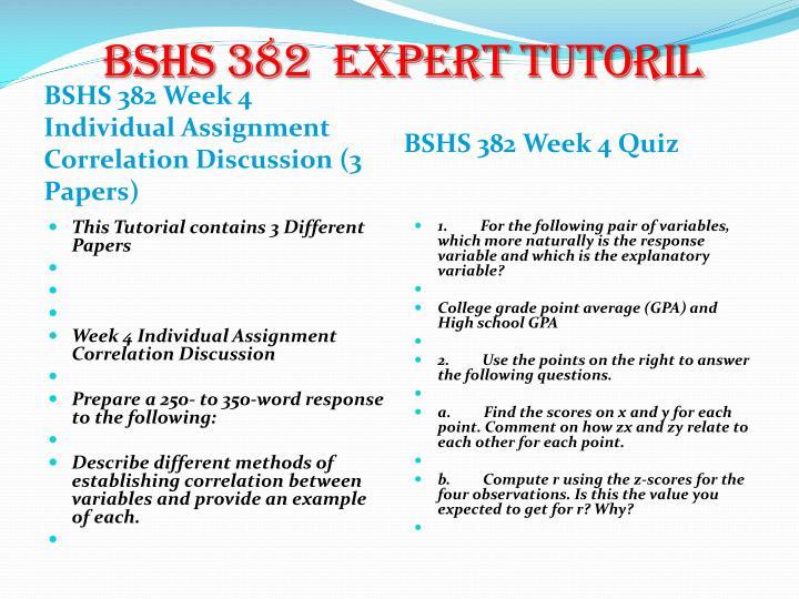 BSHS 382  expert
