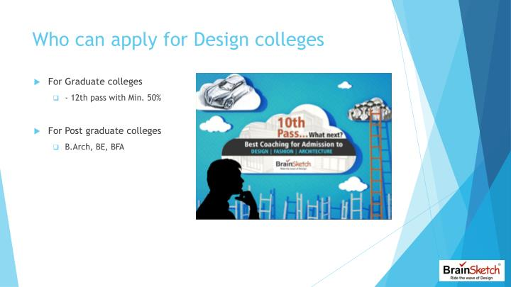 Who can apply for Design colleges
