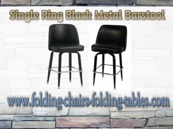 Single ring black metal barstool folding chairs and tables larry