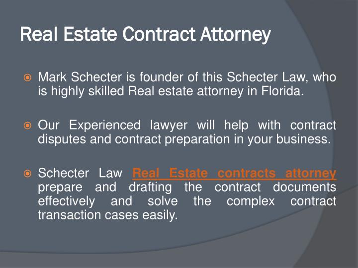 Real Estate Contract Attorney