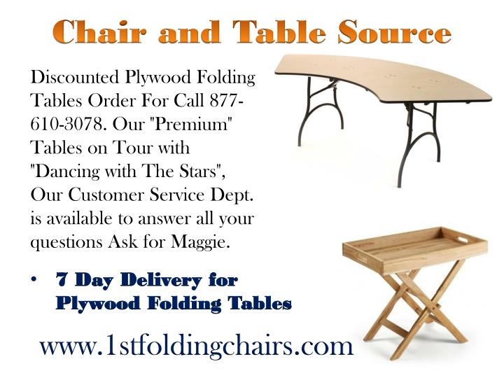 Chair and Table Source