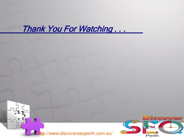 Thank You For Watching . . .