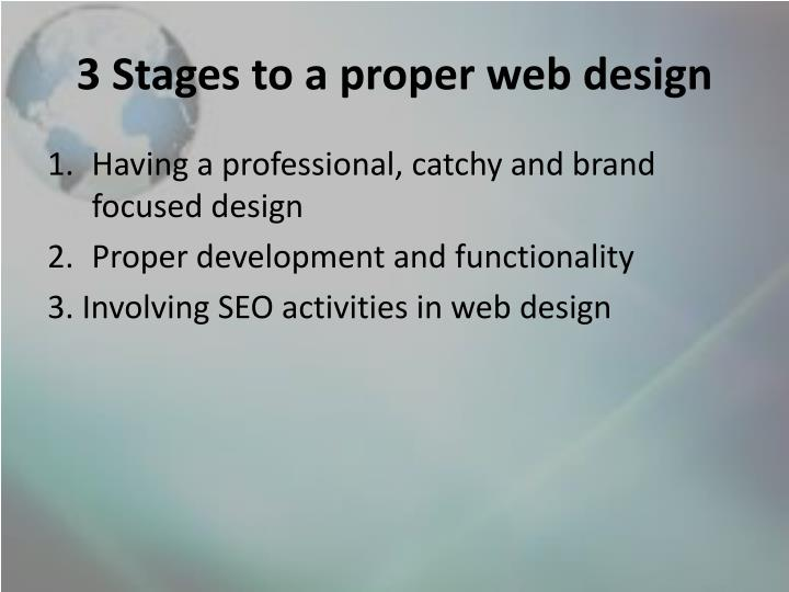 3 Stages to a proper web design
