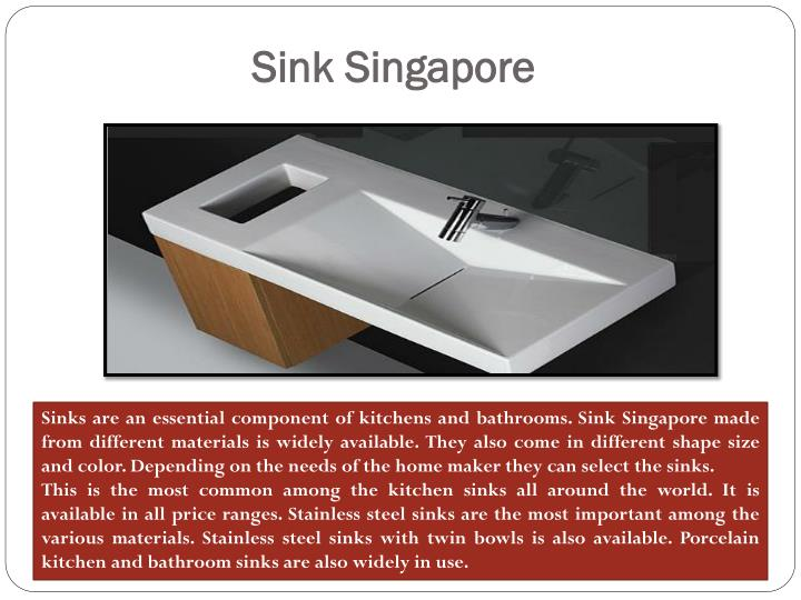 Sink Singapore