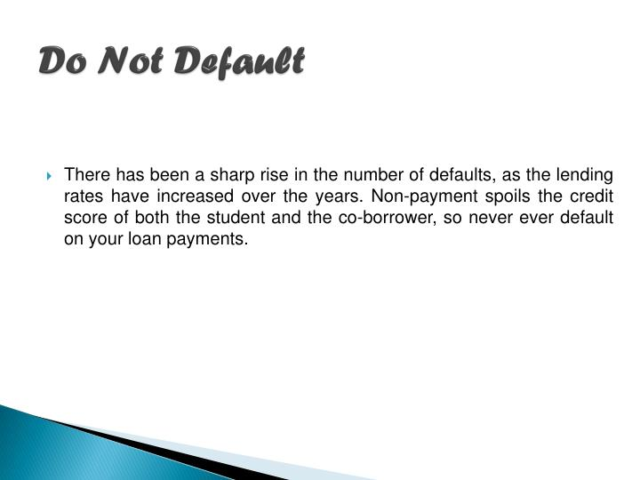 Do Not Default