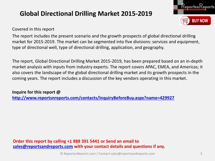Global directional drilling market 2015 20192